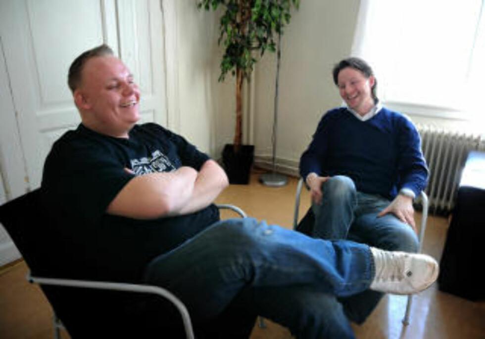 FANT HVERANDRE: På skolen fant Tomas den som skulle bli den ene for ham, den unge læreren Stian Jespersen.