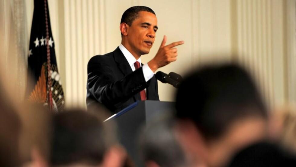 OPTIMISTISK... men Barack Obama tror det vil ta lang tid å komme seg ut av den økonomiske krisen. Foto: SCANPIX