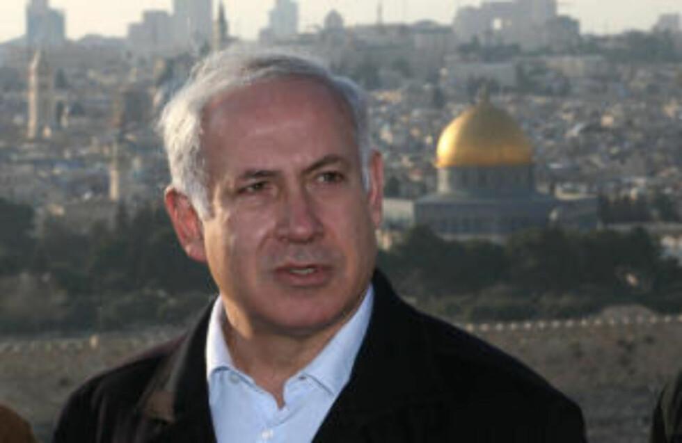 FRED: Kommende statsminister i Israel, Benjamin Netanyahu, uttalte tidligere i dag et ønske om større samarbeid med Palestina. (AFP PHOTO/GALI TIBBON)