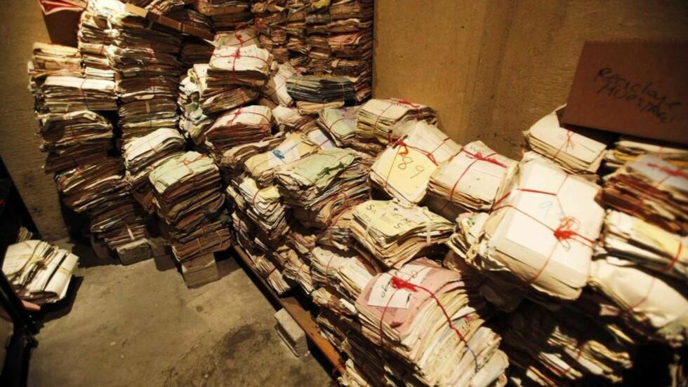 HEMMELIG ARKIV: Disse dokumentene fra borgerkrigperioden er fortsatt ikke gått gjennom. Foto: REUTERS/Daniel LeClair/Scanpix