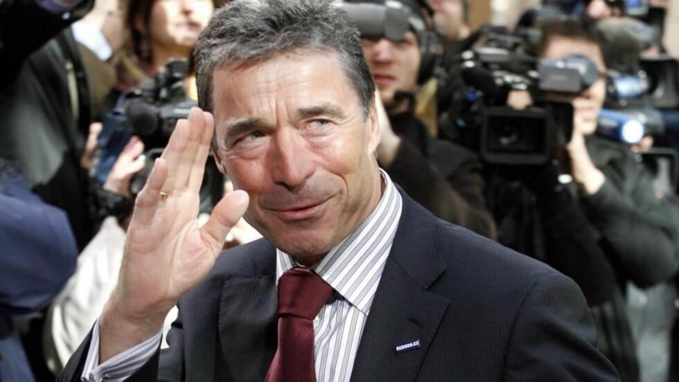 OMTALT: Danmarks statsminister Anders Fogh Rasmussen er favoritt til å overta toppjobben i NATO. Men Ap er bekymret for at han oppfattes som en konfliktskaper i muslimske land. Foto: Sebastien Pirlet/Scanpix/Reuters