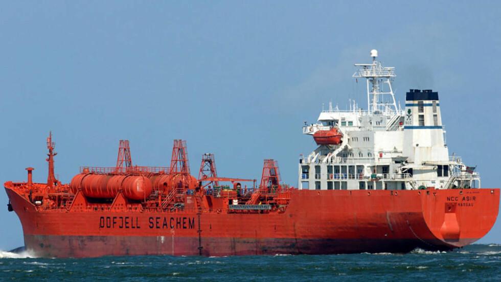 KAPRET: «Bow Asir» ble kapret av somaliske pirater i morges. Ifølge en epost sendt ut av den norske kapteinen er det rundt 16-18 pirater bevæpnet med maskinpistoler ombord. Arkivfoto: FRED VLOO / AFP / SCANPIX