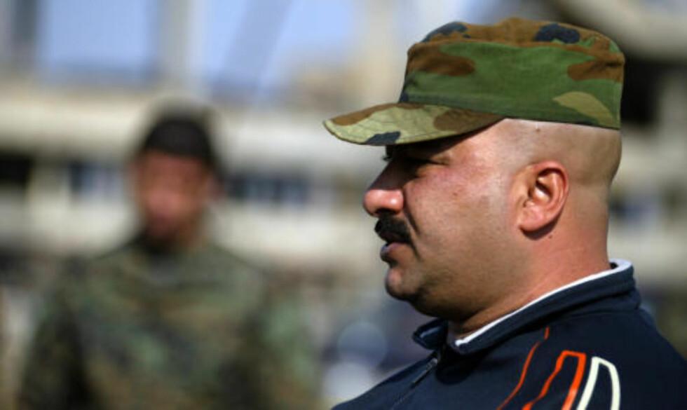 ARRESTERT:Sahwa-leder Adil Mashhadani ble arrestert av irakisk politi tidlig i går ettermiddag. Foto: AFP/ALI YUSSEF/SCANPIX