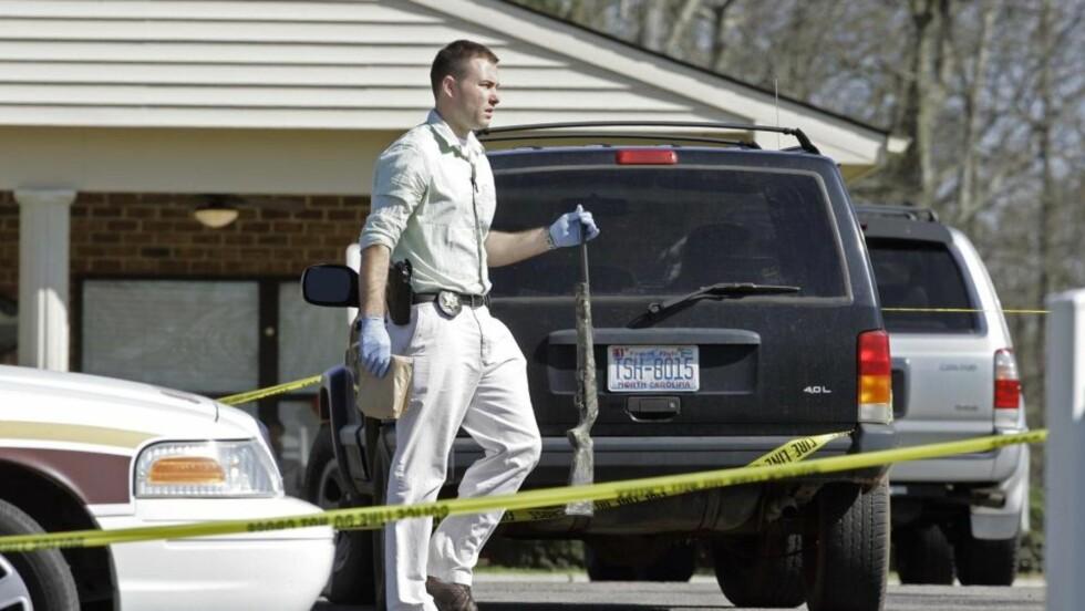 SKJØT ÅTTE MENNESKER: En mann er pågrepet etter et drapsraid på et aldershjem i North Carolina. Foto:  AP/SCANPIX