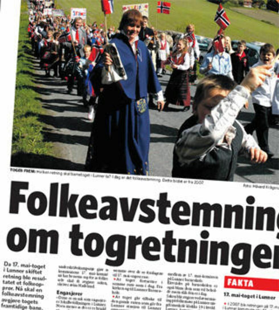 OPPMERKSOMHET: Saken har vakt oppmerksomhet i flere riksmedier. Her er dagens Dagbladet-utgtave. Faksimile: Dagbladet
