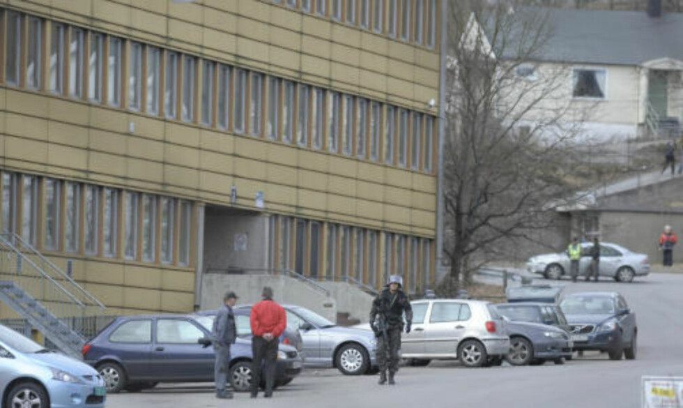 BOMBETRUSSEL: Glemmen skole ble evakuert etter alvorlige trusler i dag. Leserfoto.