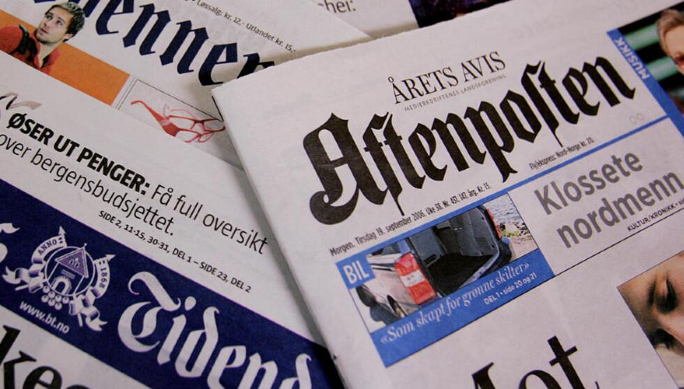 MÅ NEDBEMANNE: Aftenposten sliter med reduserte annonseinntekter, er som så mange andre aviser, rammet av finanskrise og nedgangstider. Foto: Stian Lysberg Solum / SCANPIX