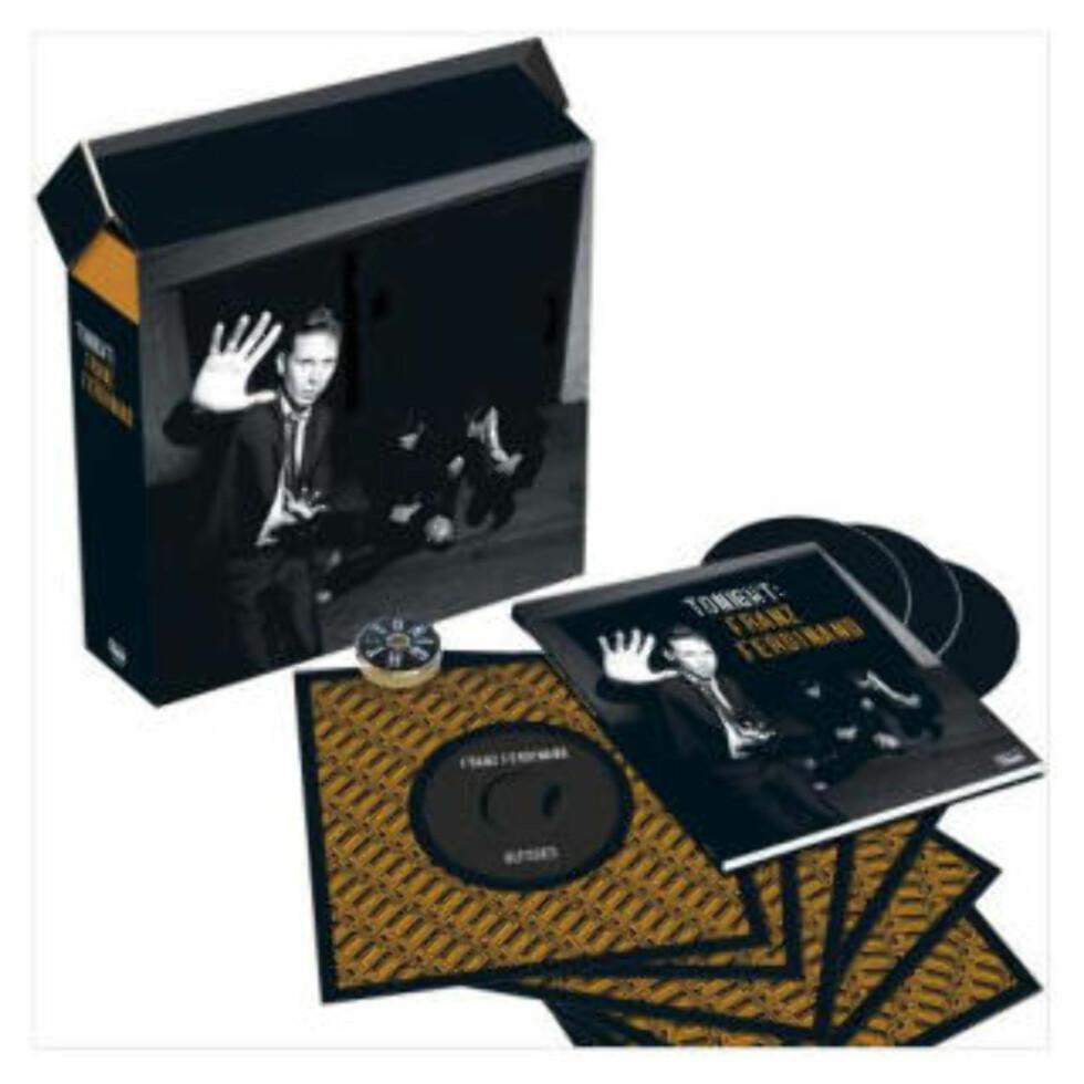 HIPT: Hipsterband som Franz Ferdinand må selvsagt ut på syvtommers vinyl. Her er hele bandets siste album, Tonight: Franz Ferdinand, i syvtommers jukebox-utgave.