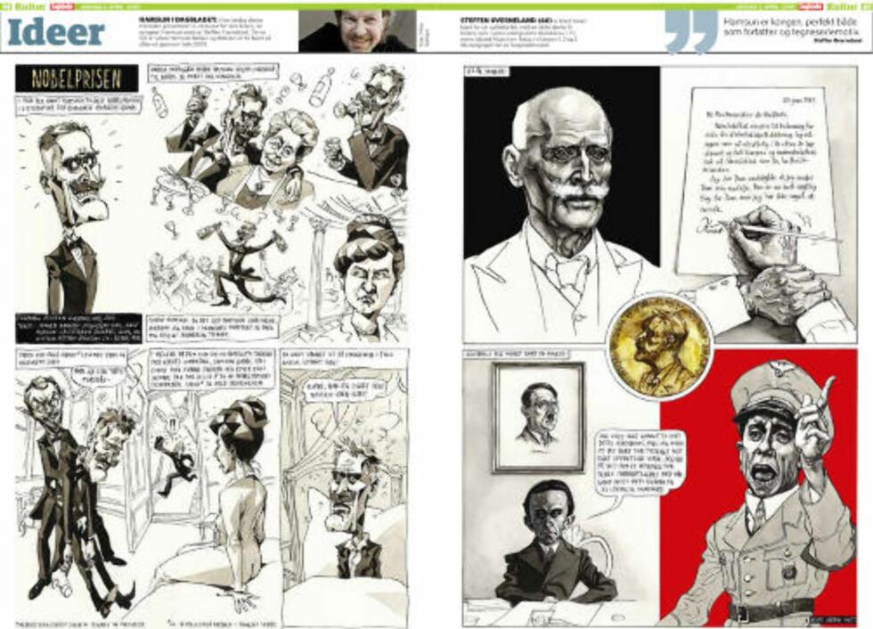 IDEER: Seksjonen preges i dag av tegneren Steffen Kverneland.
