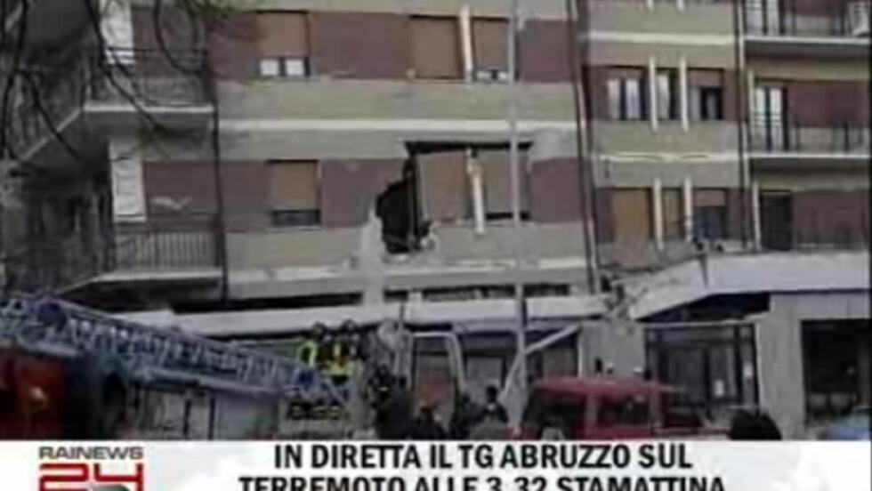 FLERE DØDE: Italia ble i natt rystet av et kraftig jordskjelv. Faksimile: RAINEWS