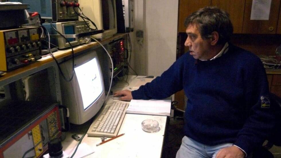 ADVARTE: Forsker Gioacchino Giampaolo Giuliani prøvde å varsle om et jordskjelv i Sør-Italia, men ble anmeldt og bedt om å holde munn. Foto: EPA/CLAUDIO LATTANZIO