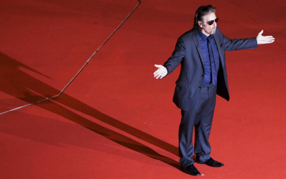 SPILLER NAPOLEON: Al Pacino skal spille den franske hærføreren, som var omtrent like høy som ham selv. Foto: REUTERS/MAX ROSSI/SCANPIX