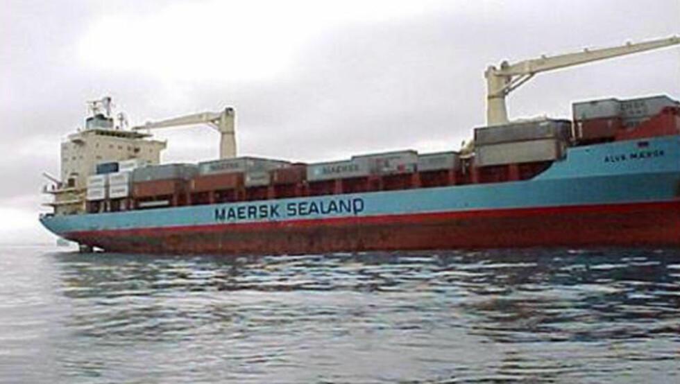 SIKRET SKIPET, MISTET KAPTEINEN: Maersk Alabama ble utsatt for et kapringsforsøk i går. Somaliske pirater ble jagd til sjøs, men de fikk med seg skipets kaptein. Foto: REUTERS/Maersk Line Ltd