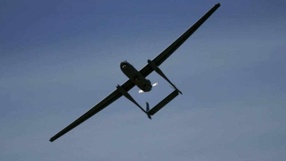 ISRAELSK DRONEFLY: Kjøpes av russerne. Foto: AP Photo/Ariel Schalit/Scanpix