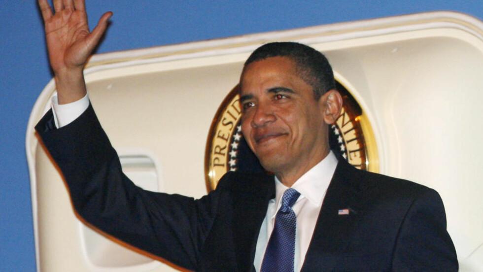 SER PÅ FELLES PROBLEMER: Barack Obama snakker varmt om internasjonalt samarbeid. Foto: REUTERS/Jim Young/Scanpix