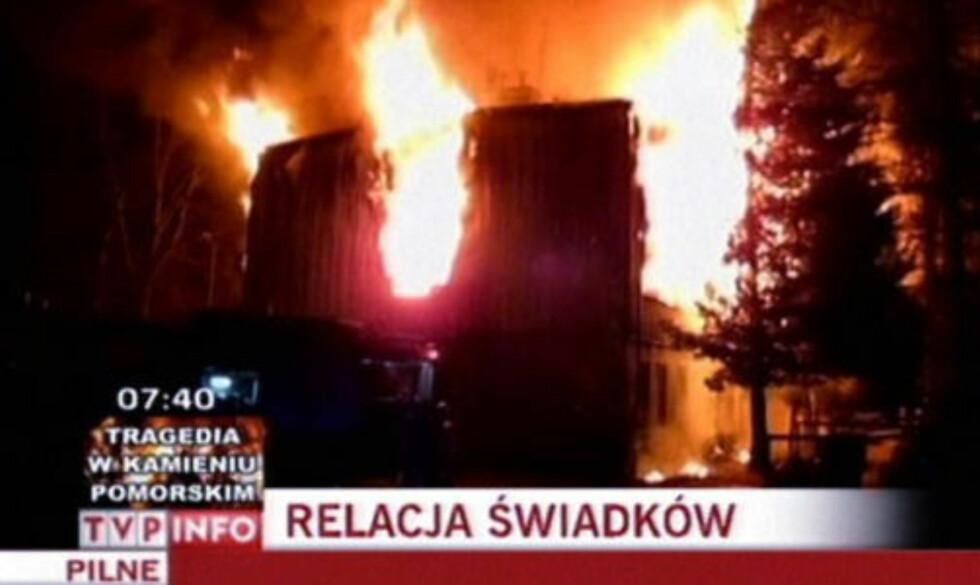 OVERTENT: Herberget som brant i natt skal ha vært dårlig brannsiktet.  Foto: TVP Info