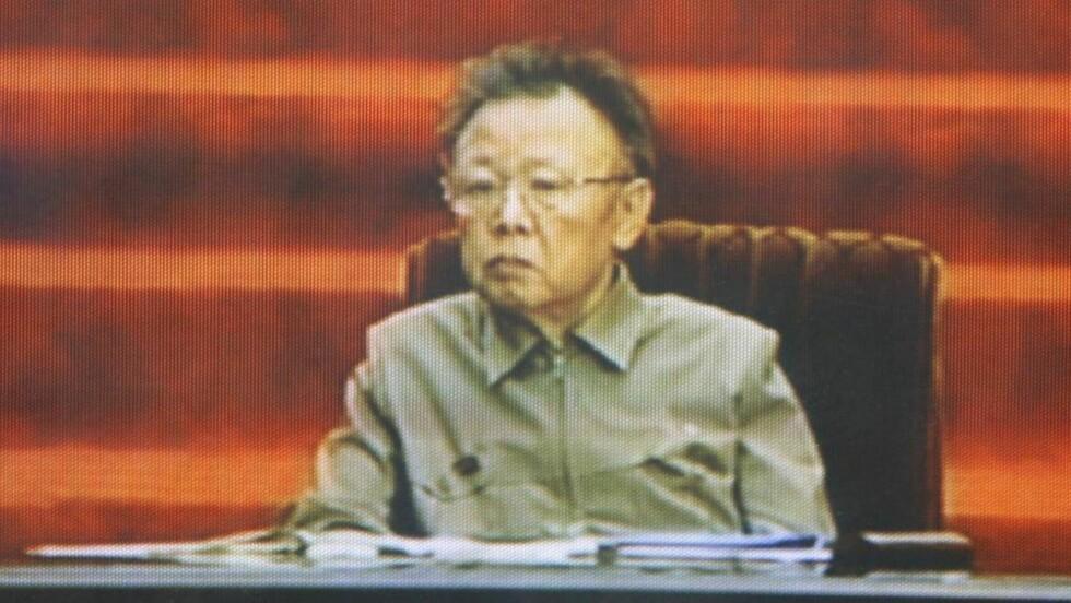 TREKKER SEG: Nord-Korea vil ikke lenger forhandle om sitt atomprogram. Her leder Kim Jong-il i en TV-opptreden i april. Foto: REUTERS TV/SCANPIX