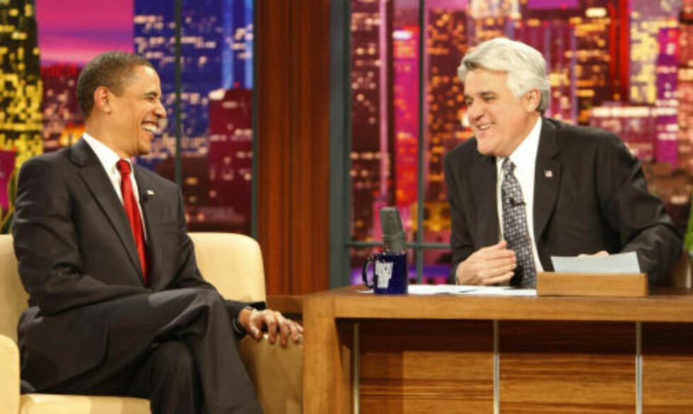 VIKTIG: Talkshowet til Jay Leno har over fem mill. seere. FOTO: SCANPIX/AP