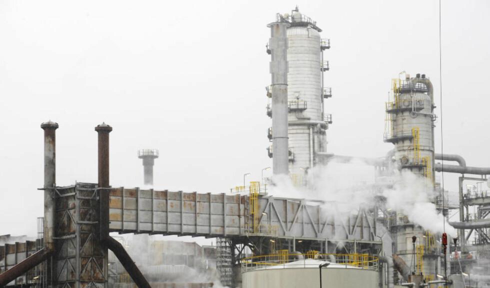 MONGSTAD:  Oljeraffineriet  på Mongstad. Foto:  Marit Hommedal  / SCANPIX .