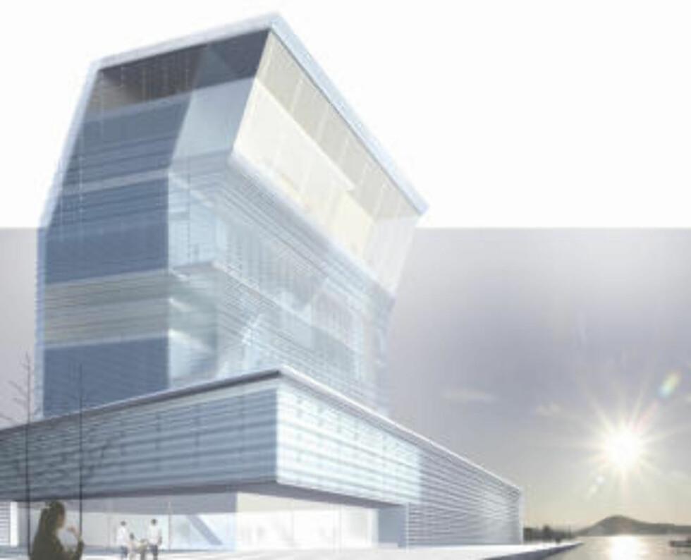 VINNEREN: «Lambda» av Herreros Arquitectos (Spania) vant arkitektkonkurransen om Munch-museet. Men det er ikke helt sikkert at museet blir seende slik ut.