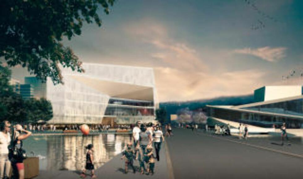 VINNEREN: «Diagonale» av Lund Hagem Arkitekter og Atelier Oslo (Norge) vant Deichmanske-konkurransen.