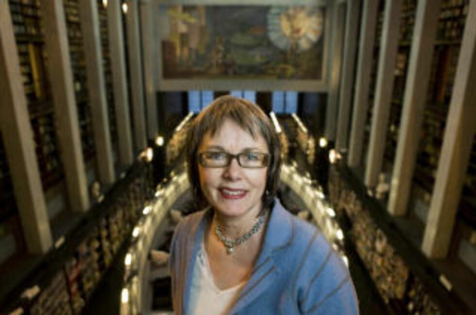 FORNØYD: Bibliotekforeningens leder Anne Hustad er positiv til bibliotekmeldingen. Foto: Berit Roald / SCANPIX