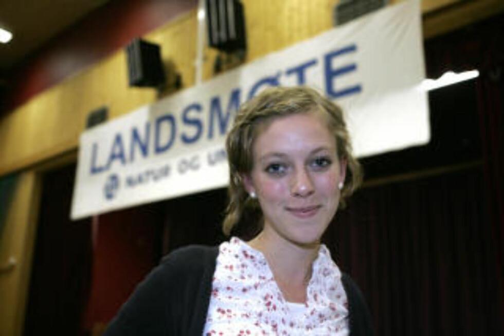 SKUFFET OVER JENS: Natut og Ungdom-leder Ingeborg Gjærum. Foto:  Knut Falch / SCANPIX .