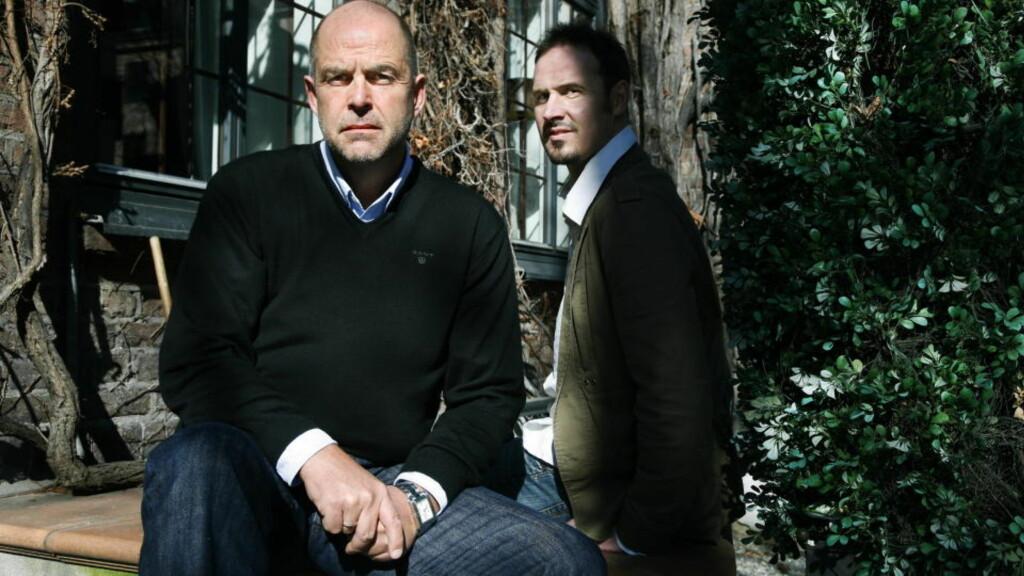 BESTSELGER: Olaf Olsvik (t.v.) gikk fra å være vellykket forretningsmann til å bli narkoman. Bjørn Olav Jahr (t.h.) har skrevet bok om ham. Foto: STEINAR BUHOLM