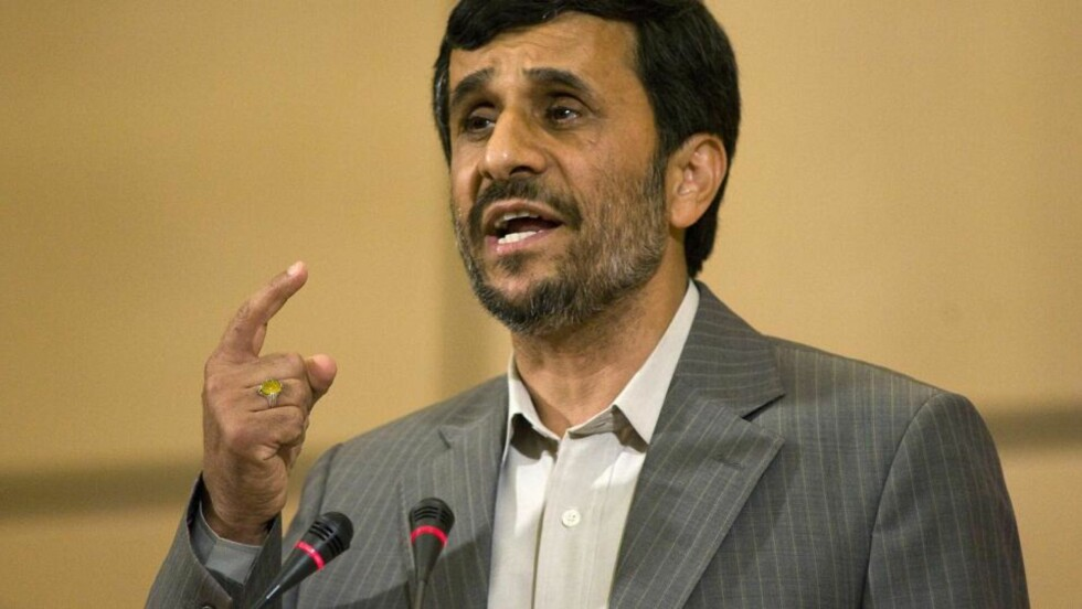 FORANDRET TALEN: Irans president Mahmoud Ahmadinejad hadde tenkt til å komme med uttalelser som sådde tvil om Holocaust under FNs rasismekonferanse i går, men forandret det. Foto: AP/SCANPIX