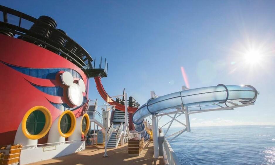 Her kan du ta vannsklie som går utenfor selve skipssiden på Disney Magic.                            Foto: Disney Magic