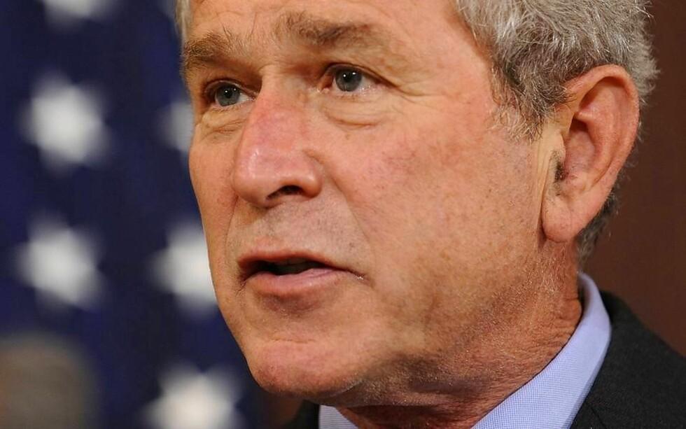 <strong>BUSH:</strong> USAs president George W. Bush vil ikke ha sterkere statlig styring av markedet, slik stadig flere land ønsker. Foto: Susan Walsh/SCANPIX