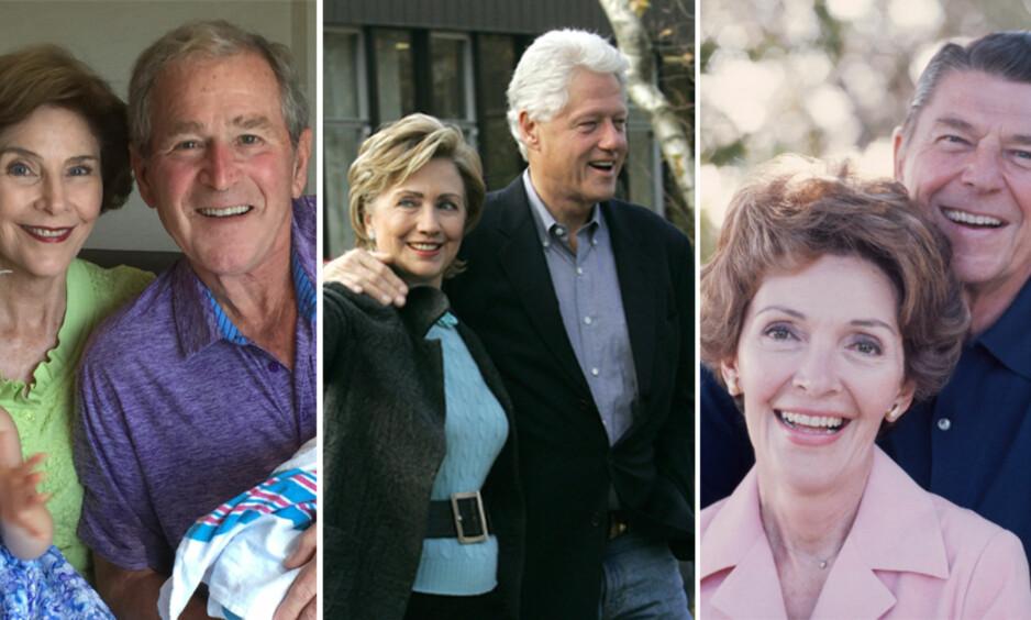 LUKSUS: Både Laura Lane og George W. Bush, Hillary og Bill Clinton, samt Nancy og Ronald Reagan flyttet videre til ekstravagante eiendommer og boliger. Foto: NTB Scanpix