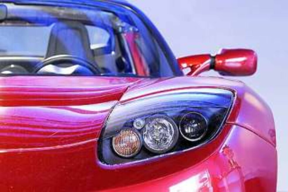 TESLA: Todørs åpen sportsbil med ren batteridrift og Lotus-understell. Foto: AP/Mark J. Terrill