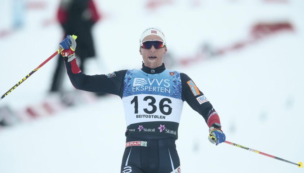VANT IGJEN: Didrik Tønseth vant sitt andre renn på to dager på Beitostølen. Foto: Bjørn Langsem