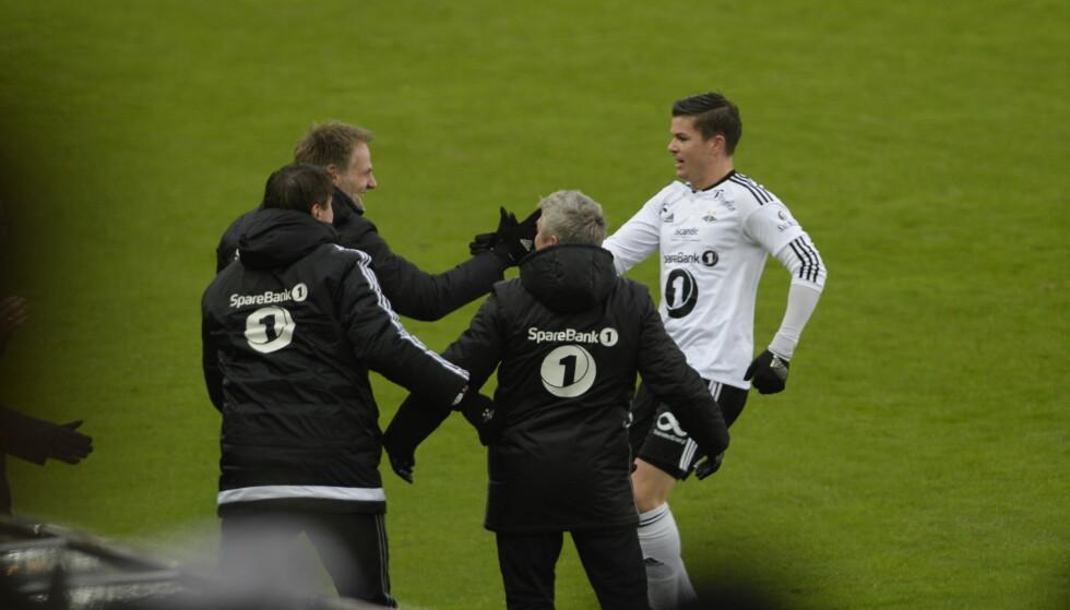 SCORET: Pål André Helland scoret 1-0 for RBK etter bare 11 minutter. Foto: John Terje Pedersen