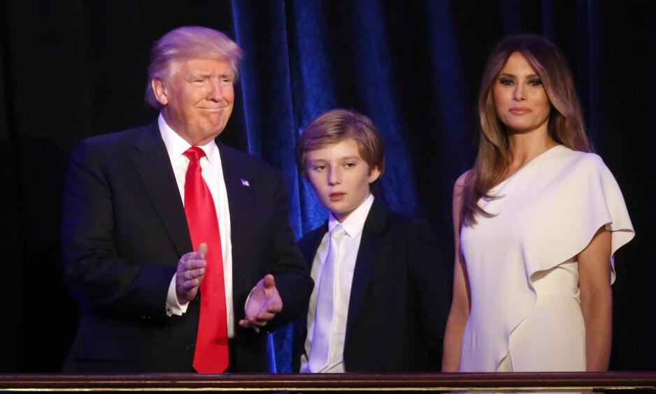 Dyrt: Ettersom Melanie Trump og sønnen Barron blir boende i New York vil kostnadene forbli høye, også etter at Donald Trump har flyttet inn i det hvite hus. Foto: NTB Scanpix / REUTERS / Carlo Allegri.