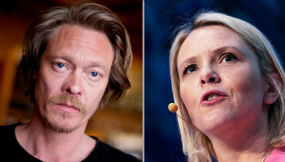 POPCORN-TID: I går kveld var Kristoffer Joner og Sylvi Listhaug i debatt på Facebook.
