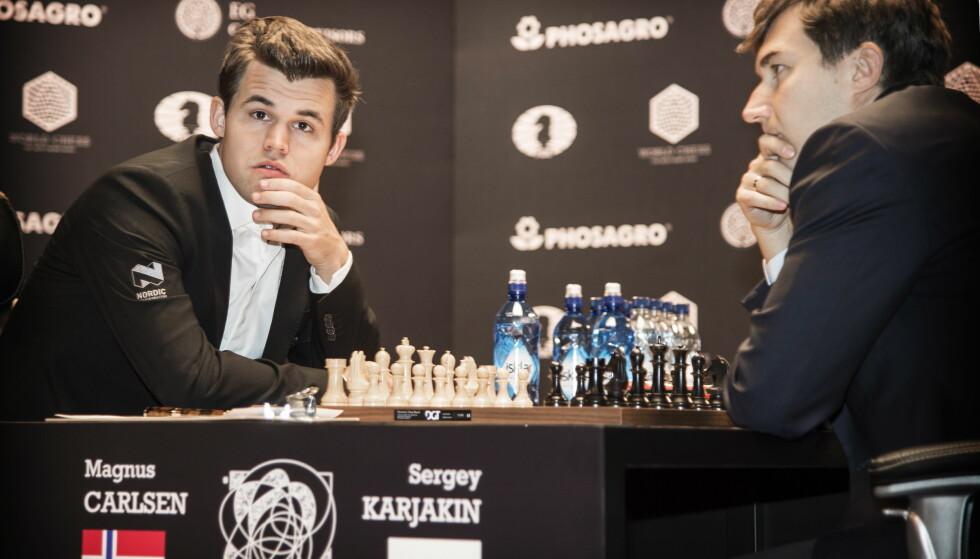 VANT ETT: Nå skal Magnus Carlsen kjempe om VM-titlene i lyn- og hurtigsjakk også. Foto: Hans Arne Vedlog  / Dagbladet