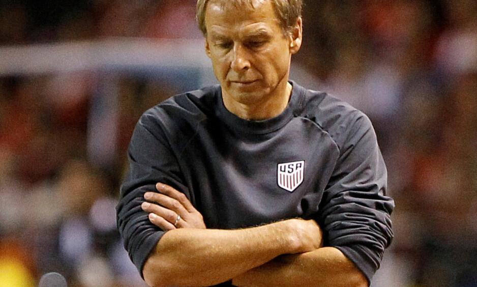 SPARKET: Jürgen Klinsmann er ferdig som landslagssjef for USAs herrelag i fotball. Foto: REUTERS/Juan Carlos Ulate/NTB Scanpix