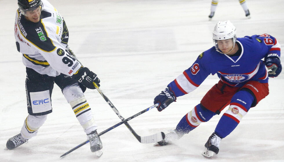 FIKK BANK: Marius Johansen og Vålerenga ble et nummer for små for Tommy Kristiansens Oilers. Foto: Heiko Junge / NTB scanpix