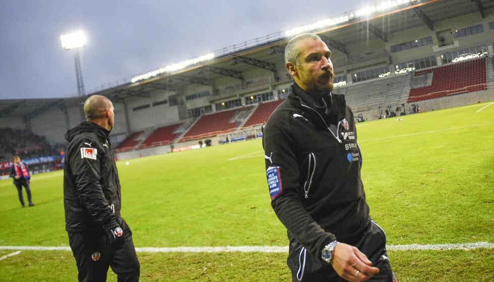 RYKKET NED: Henrik Larsson og Helsingborg. Nå er den svenske fotballegenden ferdig i klubben. Foto: NTB Scanpix