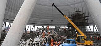 Her ligger restene av nybygget i en av de verste ulykkene i Kinas industriboom