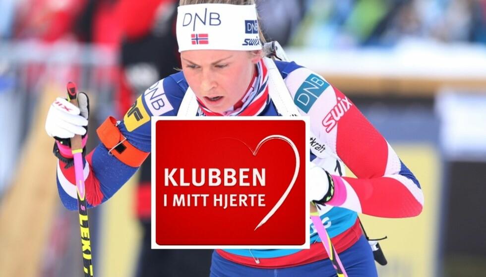 TALENT: 20 år gamle Ingrid Landmark Tandrevold er tatt ut på elitelandslaget i skiskyting denne sesongen. Til helgen skal hun og lagvenninnene til Østersund, der det er verdenscupåpning. Her er Landmark Tandrevold i et renn på Sjusjøen 13. november. Foto: NTB Scanpix