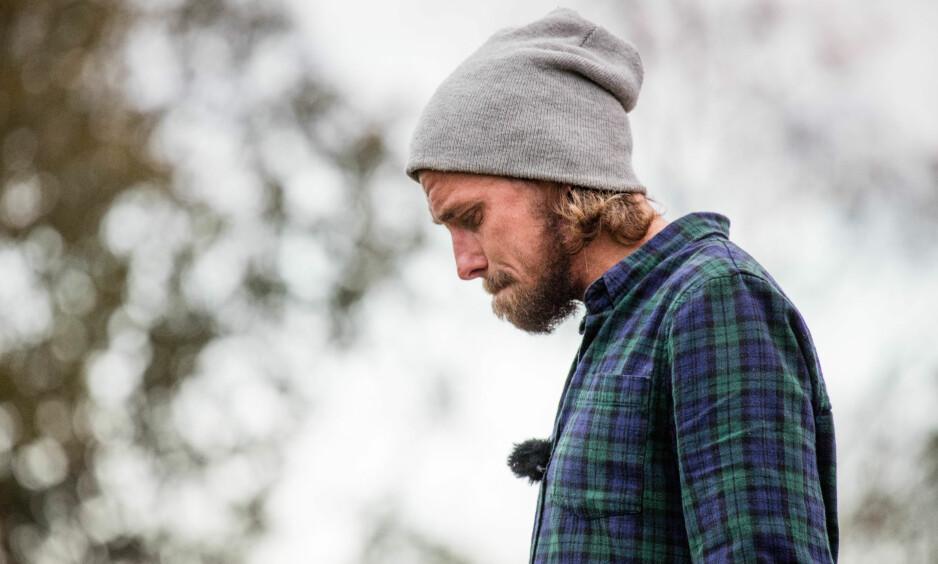 GA OPP: Etter åtte uker på «Farmen»-gården, valgte Simen Amandus Haug Henriksen (34) å reise frivillig hjem. Foto: Alex Iversen / TV 2