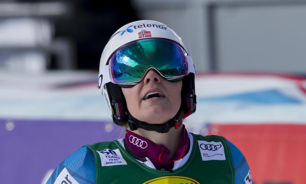IKKE MED: Nina Løseth blir ikke å finne på Norges lag i morgendagens lagkonkurranse. Det gjør heller ikke Kjetil Jansrud. Foto: Scanpix/Cornelius Poppe.