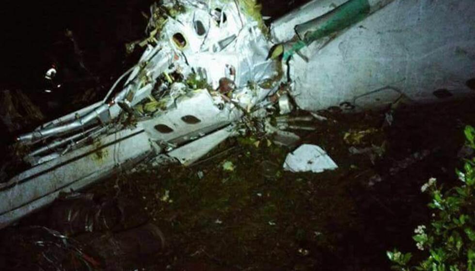 FLYSTYRT: 75 mennesker mistet livet i flystyrten i Colombia, melder politiet. Foto: Xinhua/Sipa USA /Scanpix