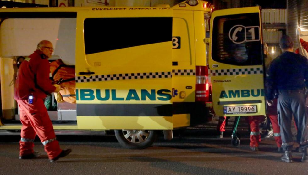 DREPT: En mann i 30-åra er død etter knivstikking i Moss mandag kveld. Video: NTB Scanpix