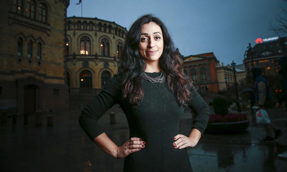 <strong>- NEDBYGGING:</strong> Ap-nestleder Hadia Tajik mener Høyre/Frp-regjeringen har nedbygd flere sentrale mekanismer som til nå har sikret en jevnere fordeling i samfunnet. Foto: Bjørn Langsem / Dagbladet