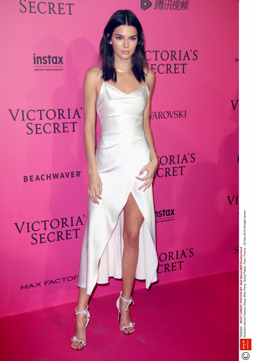 Mandatory Credit: Photo by Matt Baron/BEI/Shutterstock (7529965i) Kendall Jenner Victoria's Secret Fashion Show, After Party, Grand Palais, Paris, France - 30 Nov 2016