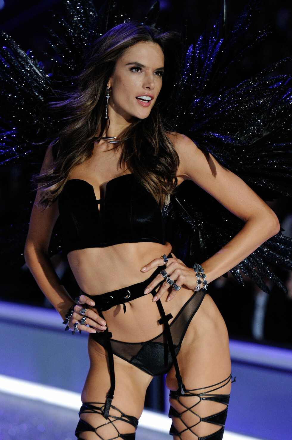 EDITORIAL USE ONLY. Alessandra Ambrosio walks on the runway at the Victoriaâä™s Secret Fashion Show at the Grand Palais on November 30, 2016 in Paris, France. Photo by Marechal/Domine/Zabulon/ABACAPRESS.COM